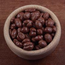 Mix arašídů a rozinek v čokoládové polevě Bonnerex